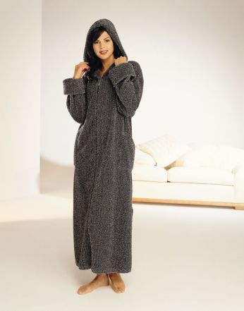 Luxury Chenille Wrap Dressing Gown With Scrolls